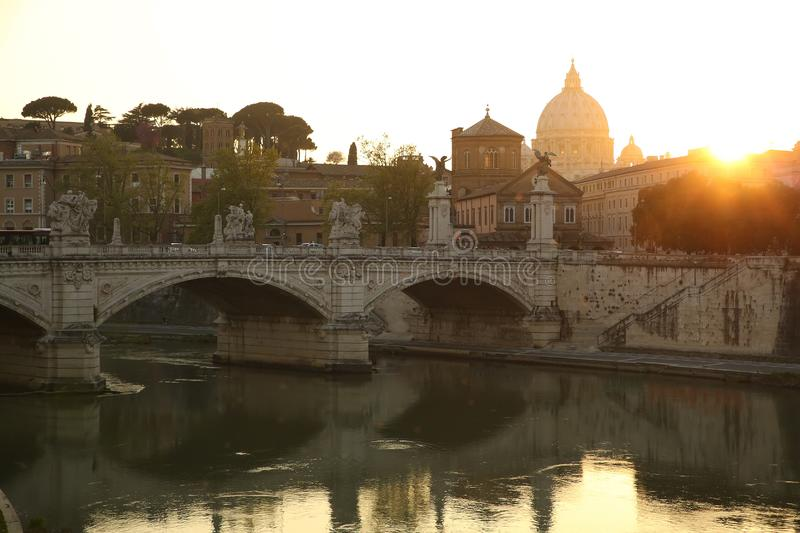 View over Rome royalty free stock photography
