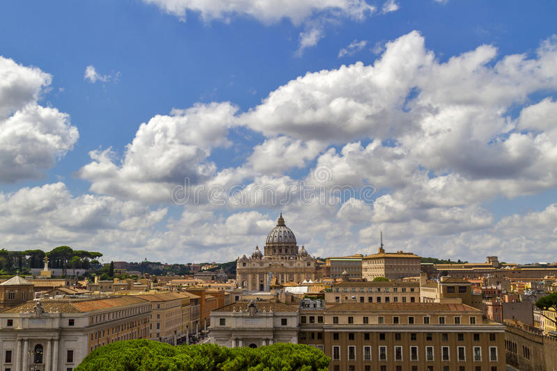 View over Rome, Italy stock photography