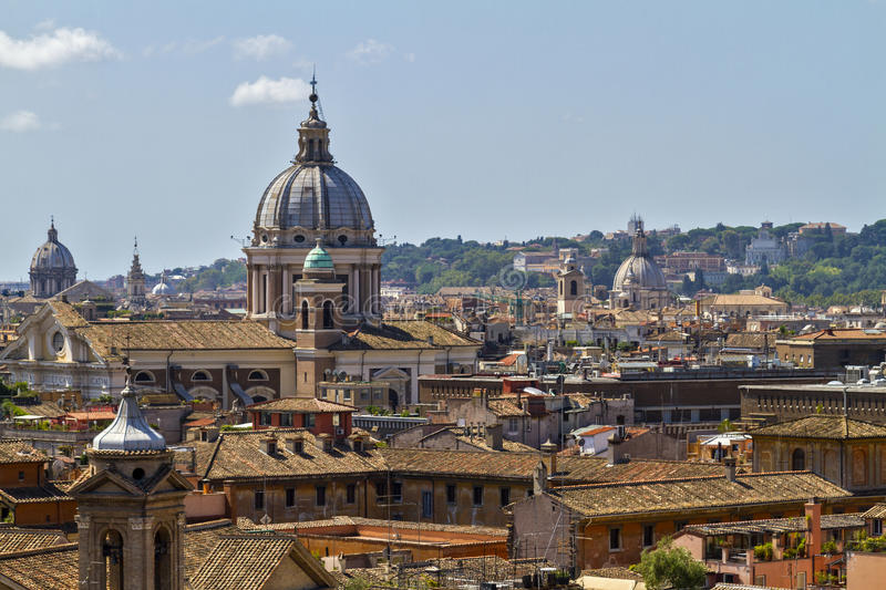 View over Rome rooftops. royalty free stock image