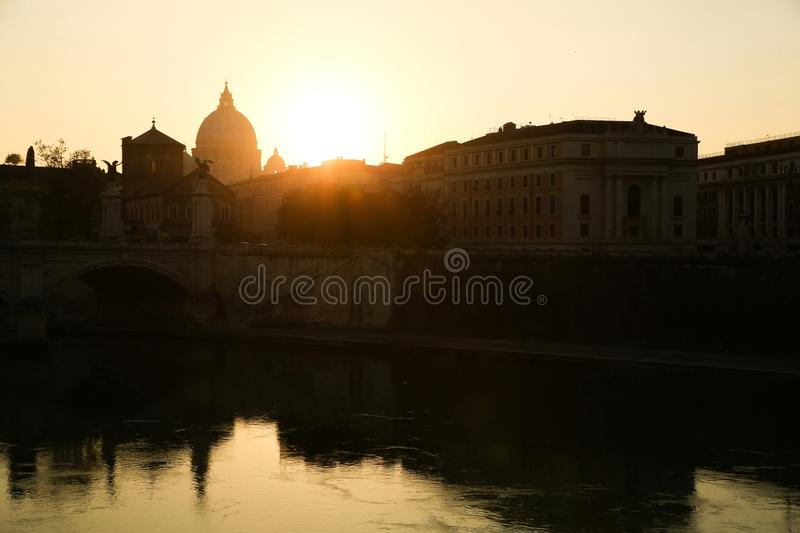 View over Rome royalty free stock photo