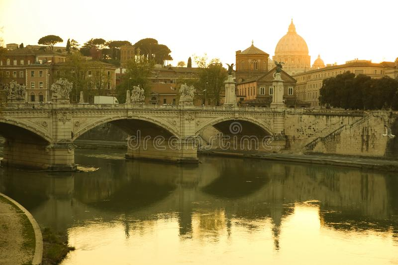 View over Rome royalty free stock images