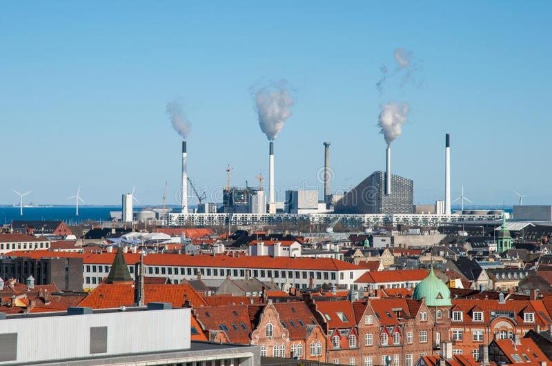 View over city of Copenhagen Denmark stock photo