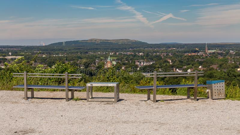 View over the Ruhr Area from Bottrop, Germany royalty free stock image