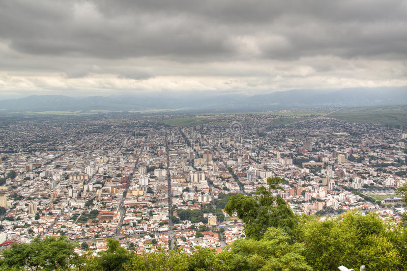 View over Salta. Argentina royalty free stock image