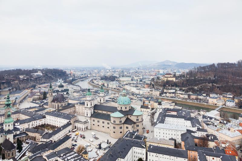The View Over Salzburg Old Town, Austria obrazy royalty free