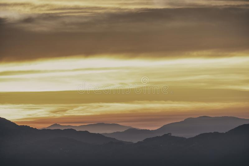 View over San Jose, Costa Rica at Sunrise. View over the Mountains surrounding San Jose, Costa Rica at Sunrise stock photography