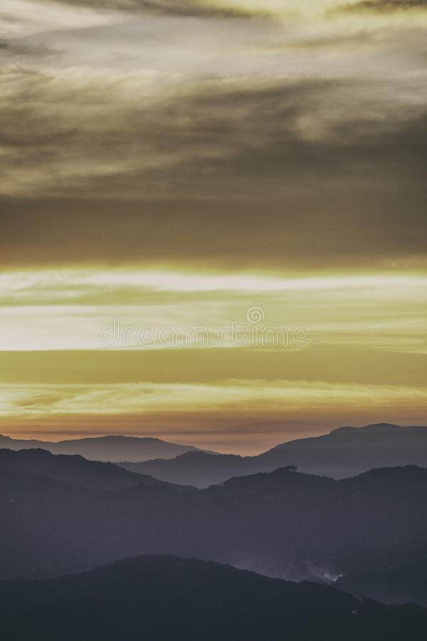 View over San Jose, Costa Rica at Sunrise. View over the Mountains surrounding San Jose, Costa Rica at Sunrise stock image