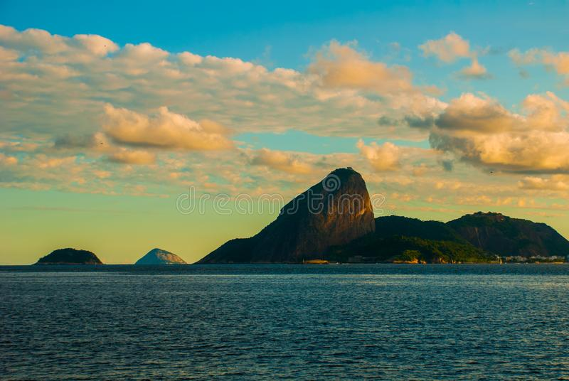 View over Santa Cruz da Barra Fort towards Sugarloaf Mountain, Niteroi, Rio de Janeiro, Brazil stock images