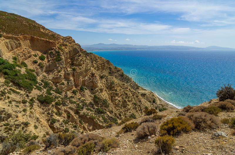 View over the south coast of crete near Asia Galin royalty free stock photography