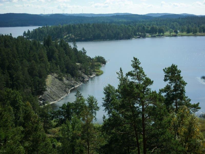 "View over Stora Ã""vjeudden. Ã""vje, Askersund / Ammeberg, Sweden stock photography"