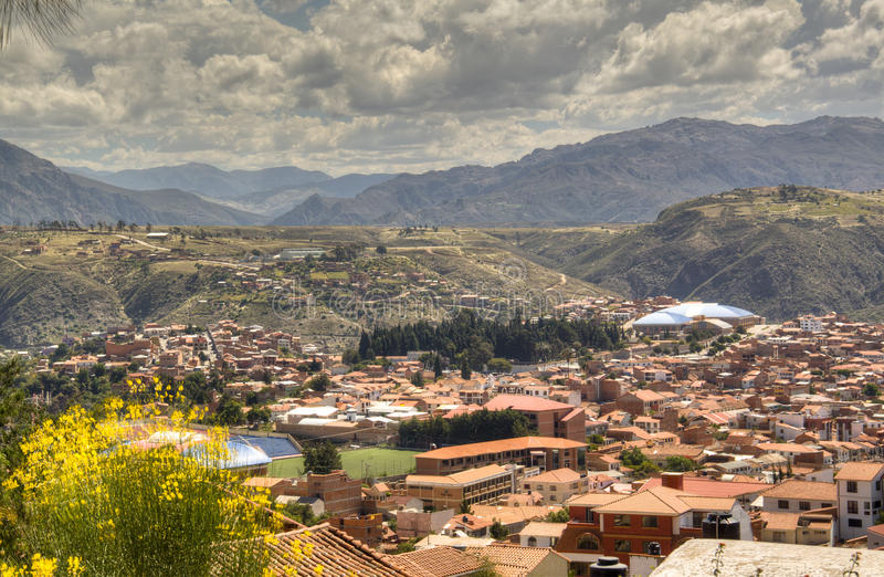 View over Sucre royalty free stock photos