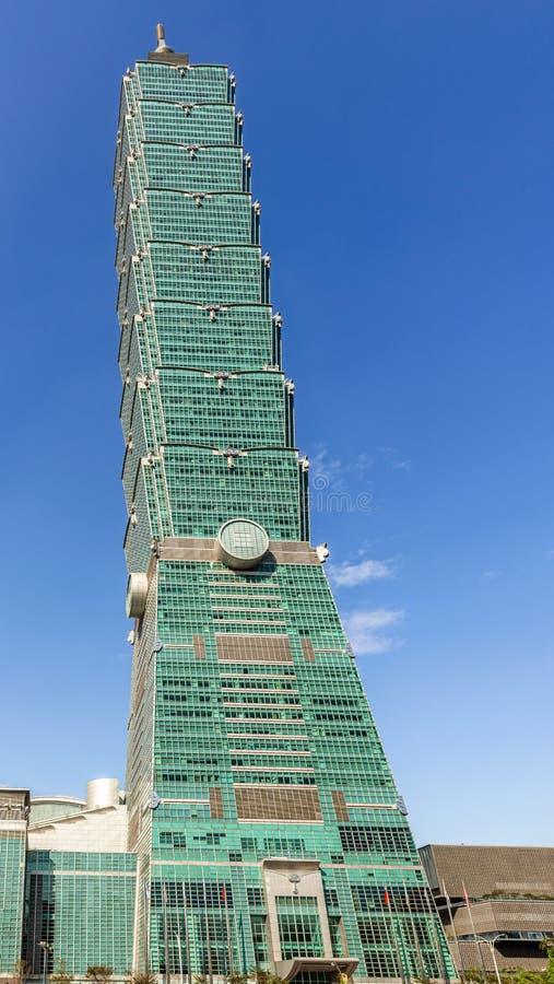 Taipei 101 famous landmark tower, building. View over Taipei 101 famous landmark tower, building stock image