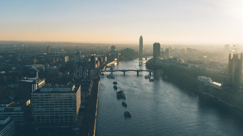 View over Thames stock photography
