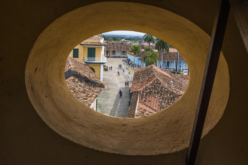 View over Trinidad street stock photo