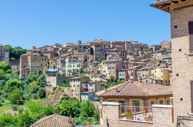 Download View Over Typical Historic Italian Houses In Unesco World Heritage Town Siena, Italy, Europe Stock Photo - Image: 83703967