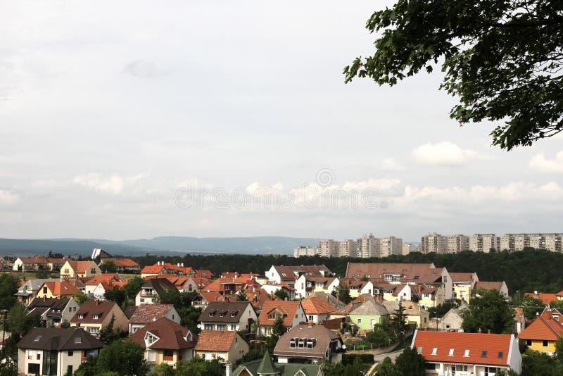 View over Veszprem royalty free stock image