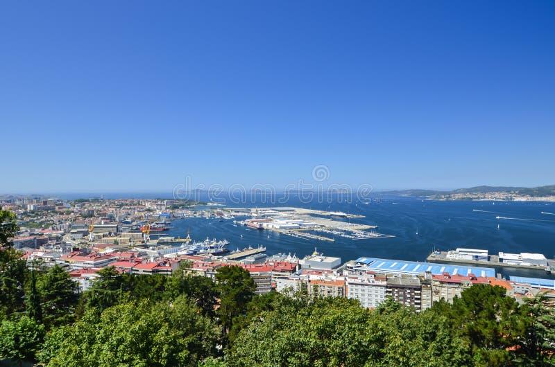 View over Vigo, Spain royalty free stock image