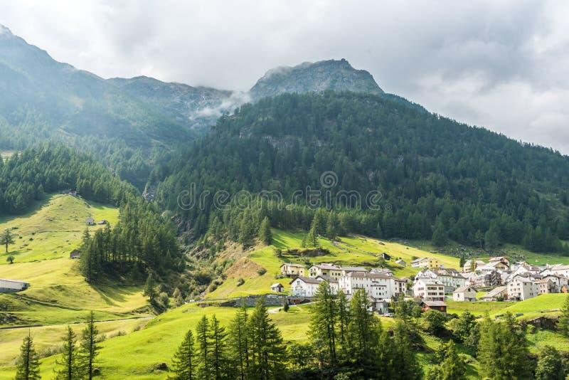 Village of Simplon in Valais, Switzerland stock images