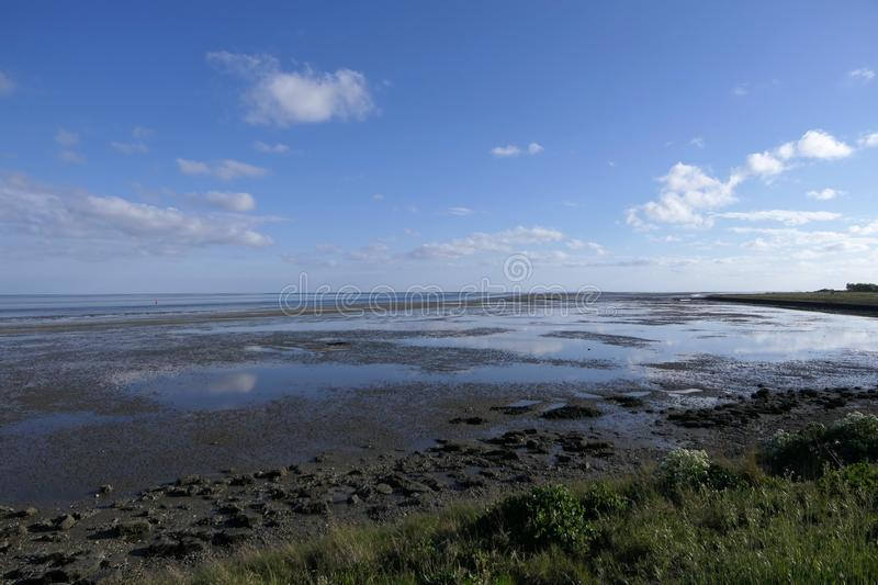 View over Wadden Sea stock image