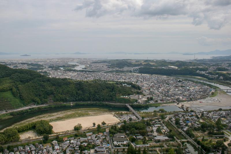 View Overlooking all of Yamaguchi Prefecture royalty free stock photos