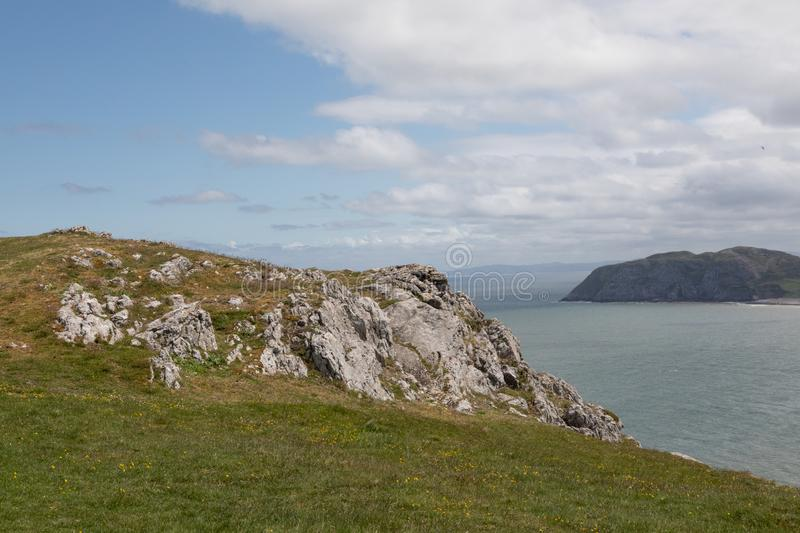 A view overlooking North Wales from the Great Orme Llandudno May 2019 royalty free stock images