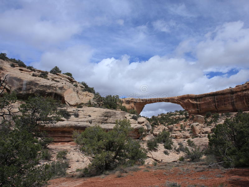 View of Owachomo Bridge in Utah. Natural Bridges National Park, Utah, USA royalty free stock image