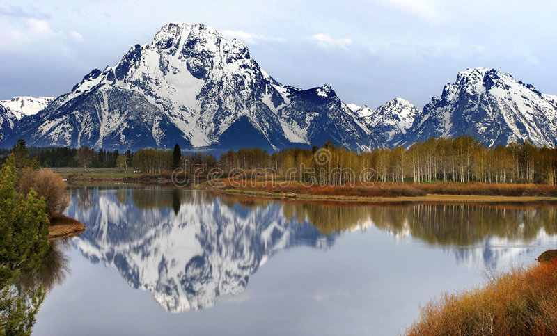 The View from Oxbow Bend royalty free stock image