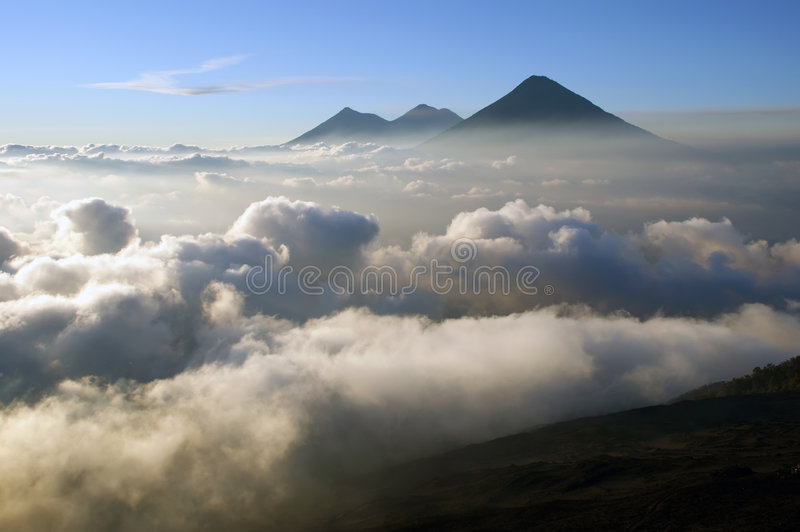 View from the Pacaya Volcano royalty free stock photos