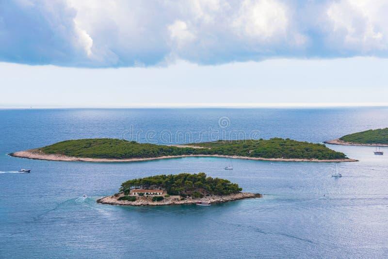 Aerial Panoramic View Of Palmizana, Sailing Cove And