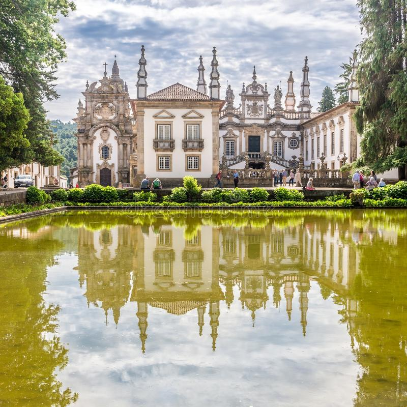 View at the Palace of Mateus near Vila Real in Portugal. VILA REAL,PORTUGAL - MAY 15,2017 - View at the Palace of Mateus near Vila Real in Portugal. Vila Rael is royalty free stock images