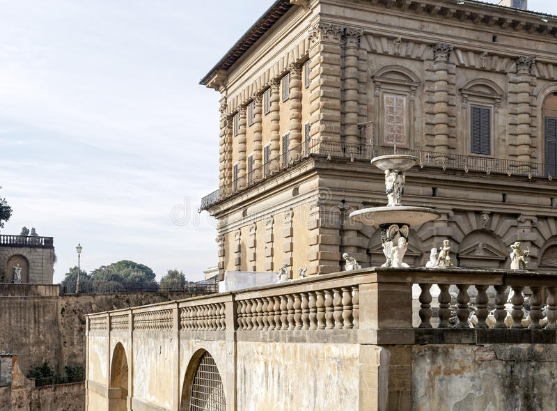 View of palazzo pitti. In florence, italy royalty free stock images