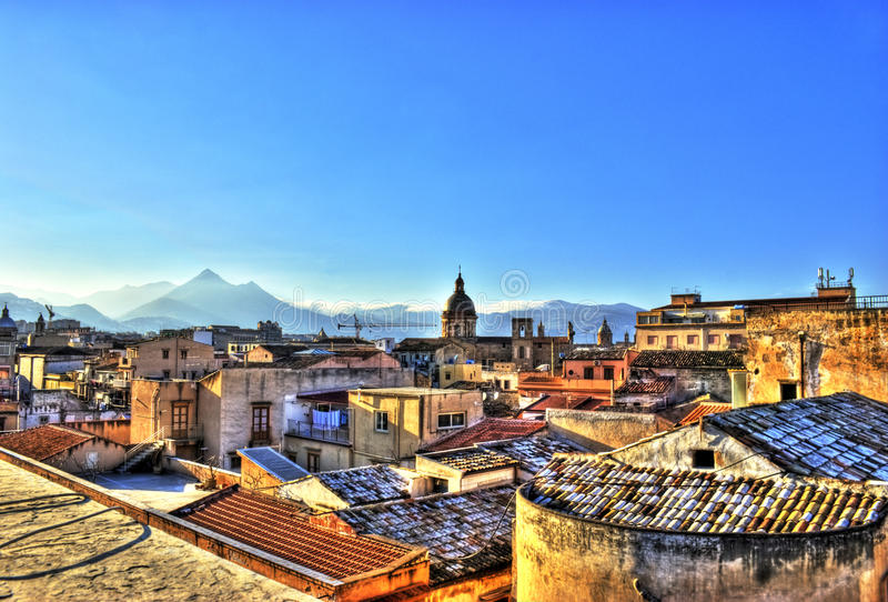 View of Palermo in the HDR stock images