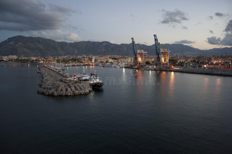 View Palermo port stock image