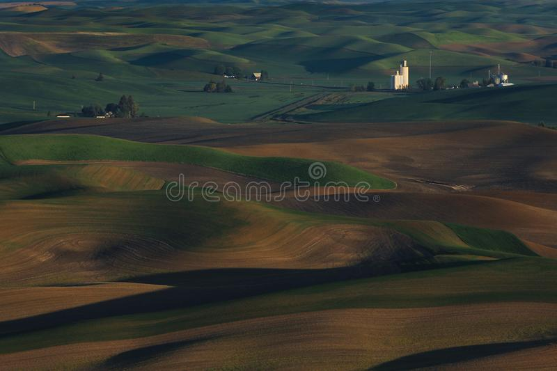 Palouse Washington from Steptoe Butte royalty free stock images