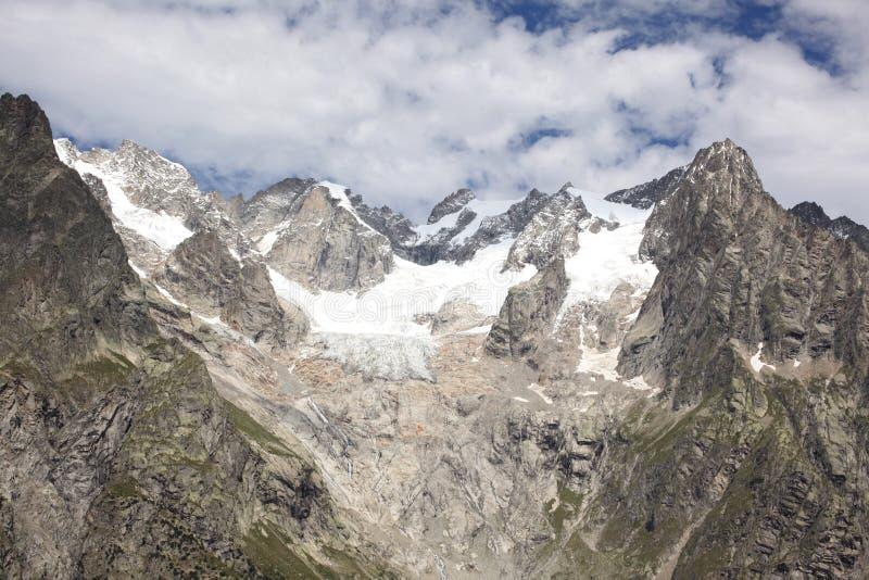 Melting glaciers on italian alps stock photos