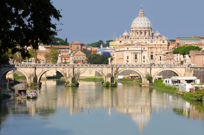 View of panorama Vatican City in Rome, Italy royalty free stock photo