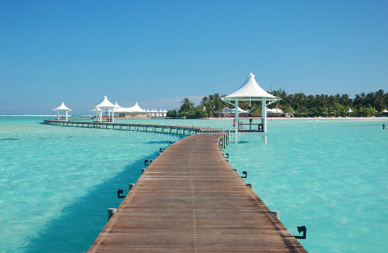Download View of paradise island stock photo. Image of pontoon - 17947172