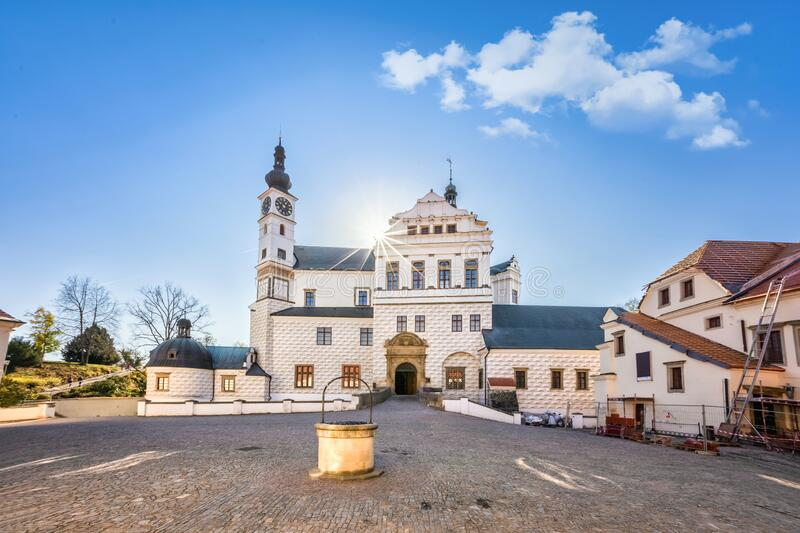 View of Pardubice Castle, Czechia royalty free stock image