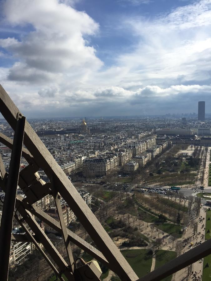 View of Paris from the Eiffel Tower royalty free stock photo