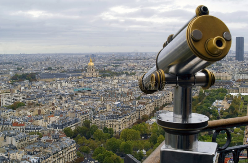 Download View Of Paris And Telescope Stock Image - Image: 6688901