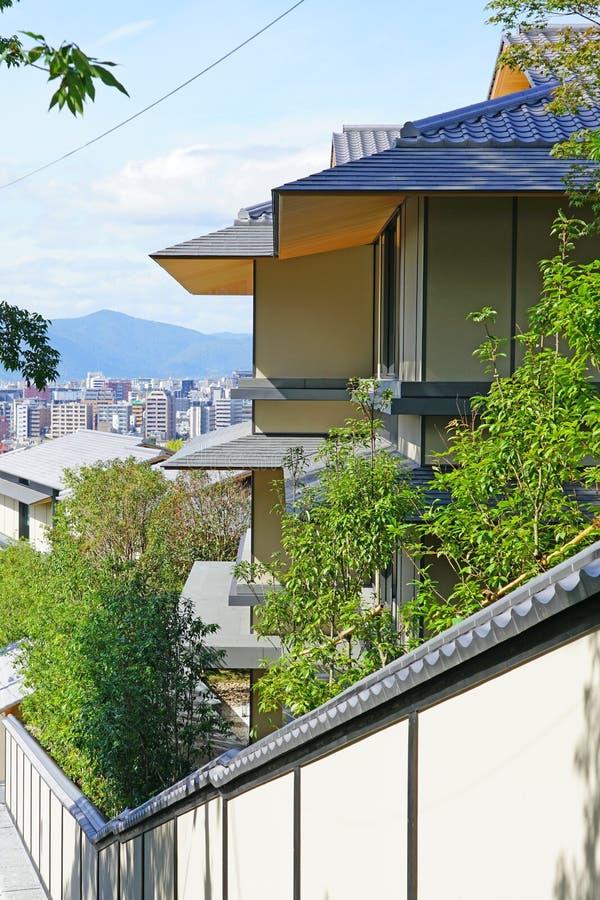 View of the Park Hyatt Kyoto hotel in Kyoto, Japan stock foto's