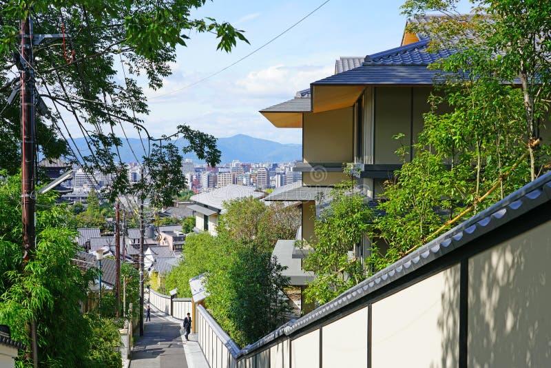 View of the Park Hyatt Kyoto hotel in Kyoto, Japan royalty-vrije stock afbeelding