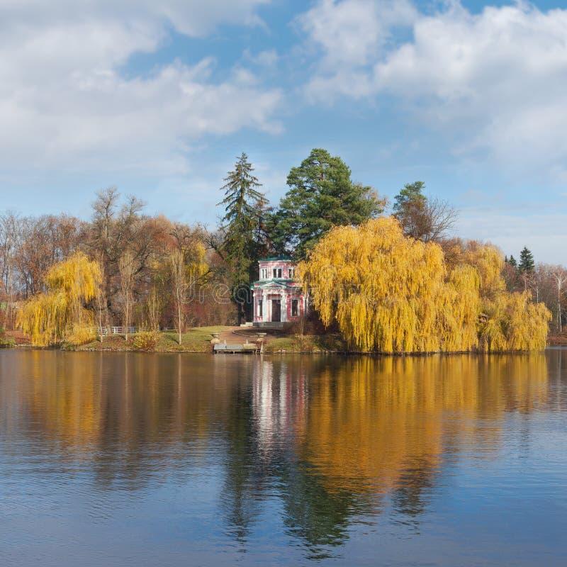 View of park Sofiyivka in Uman city. Ukraine royalty free stock photos
