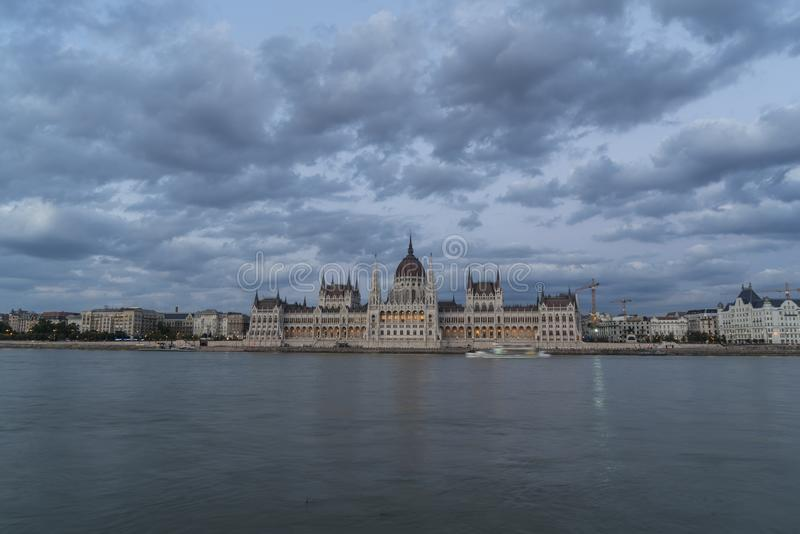 Parliament palace in Budapest stock image