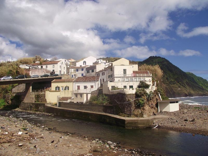 View of part of the small town Povoacao, on the island Sao Miguel, Azores. View of part of the small town Povoacao, on the southeastern coast of Sao Miguel stock image
