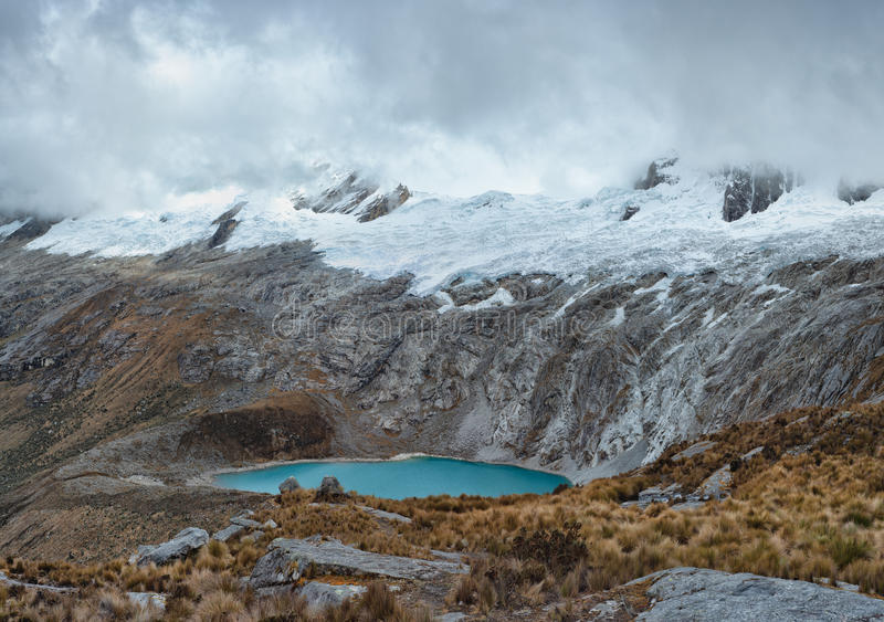 View from Paso Punta Union on 4750m stock images