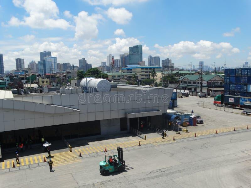 Manila harbour, Philippines royalty free stock photo
