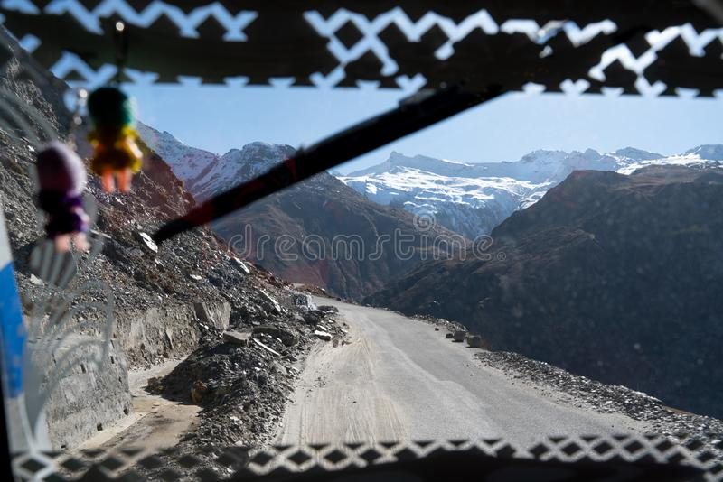The view from the passenger window royalty free stock photo