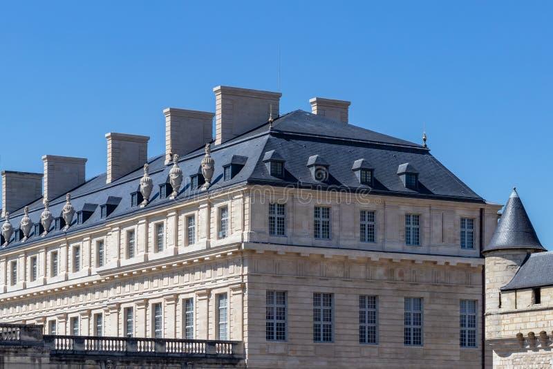 Pavillon du Roi in Vincennes castle village. View on Pavillon du Roi in Chateau de Vincennes village near Paris, France royalty free stock photos