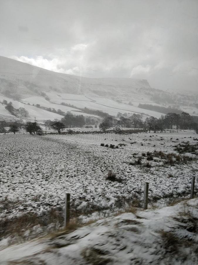 View on the pennines in snow royalty free stock photography
